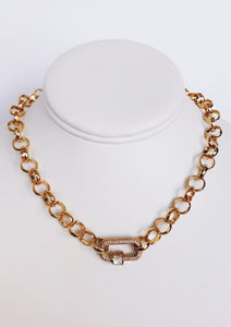 Bold Gold Rolo Chain Necklace