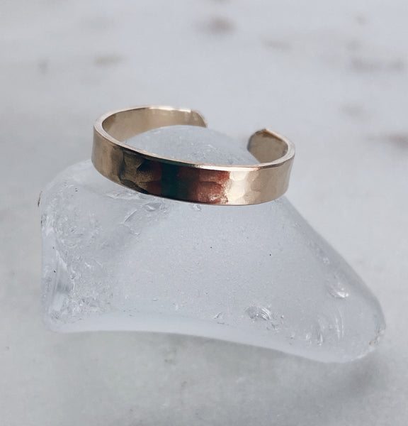 14k Gold Filled Thin Cigar Band Ring