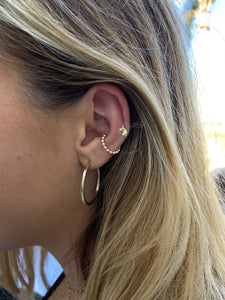 14k Gold Filled Beaded Ear Cuff