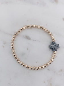Diamond Cross Beaded Bracelet