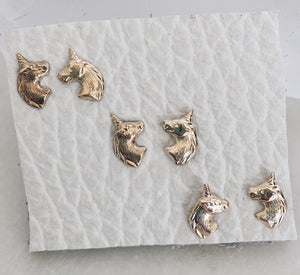 14k Gold Filled Unicorn Stud Earrings
