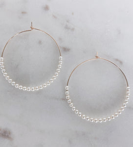 Swarovski Pearl GF Hoops (more colors)