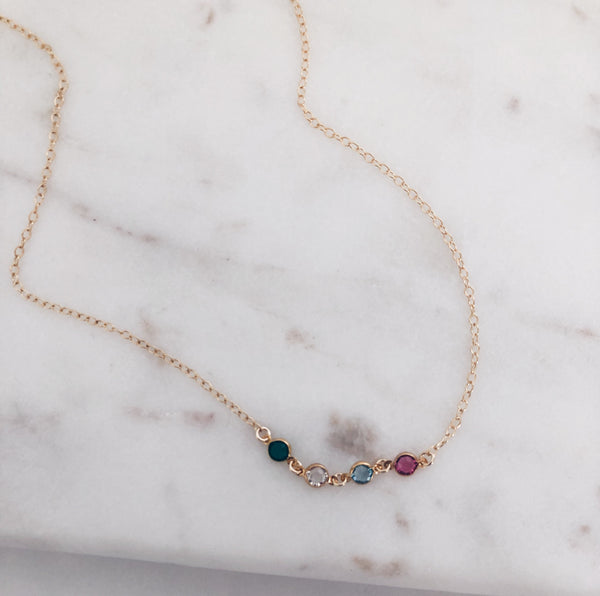 Personalized Swarovski Birthstone Necklace
