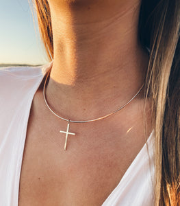 14k Gold Filled Cross Collar Necklace