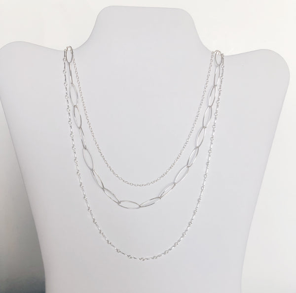 Mixed Metal Trio Necklace
