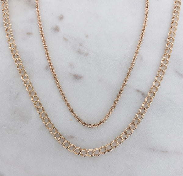 Rope & Curb Chain Layered Necklace