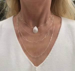 Freshwater Teardrop Pearl Necklace