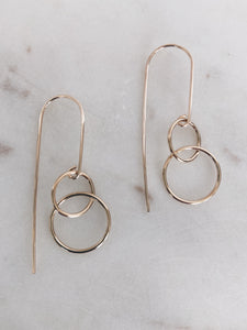 Circle Link Threader Earrings