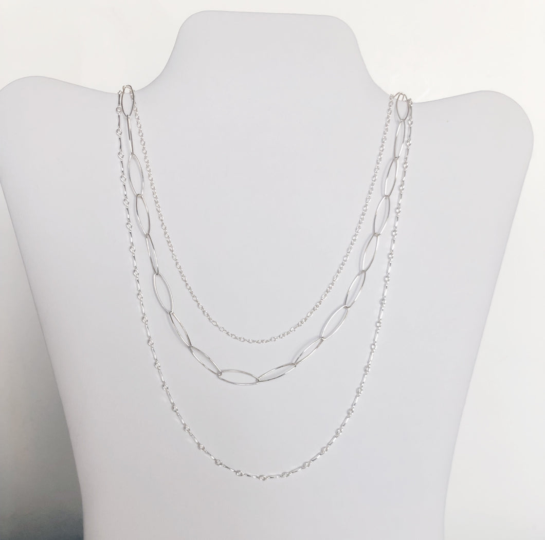 Trio Mixed Chain Necklace