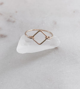 14k Gold Filled Dainty Geo Ring