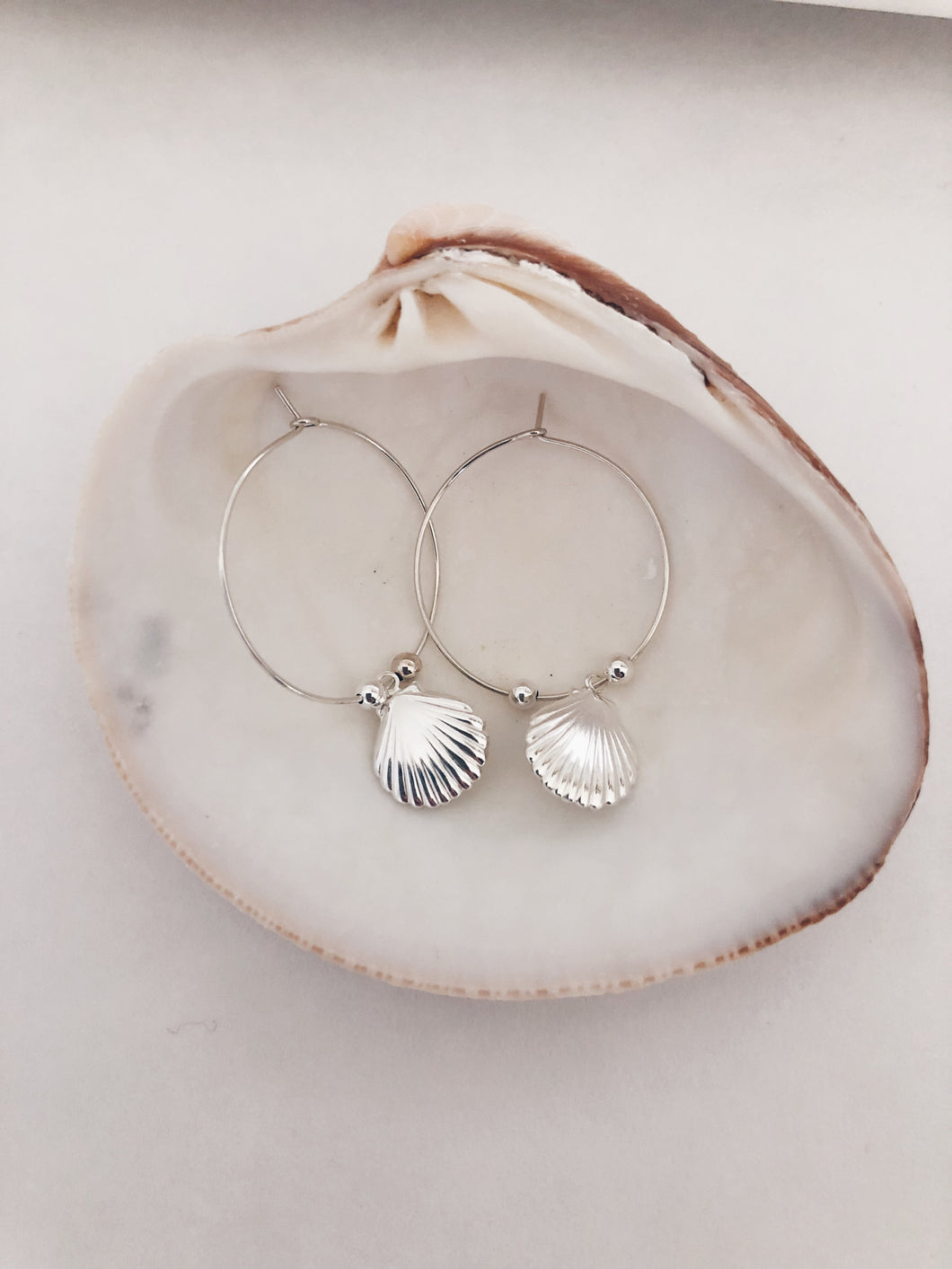 "Clamshell Hoops ""Seashore Collection"""