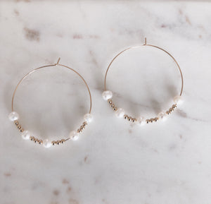 Multi Pearl Hoops