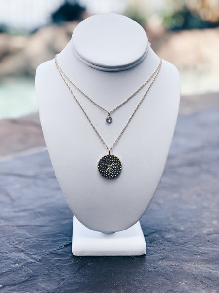 Starry Night Coin Necklace