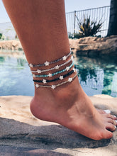 Gemstone & Star Pearl Anklets
