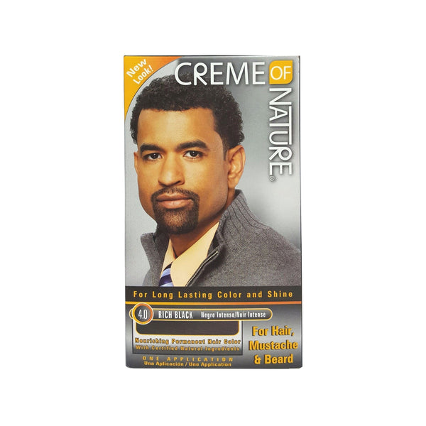 Creme Of Nature Men Gel Hair Color 4.0 - Rich Black