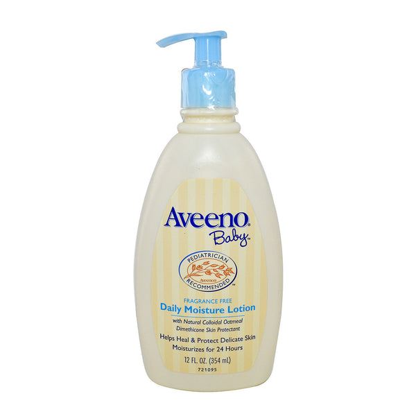 Aveeno Baby 24hrs Daily Moisture Lotion For Delicate Skin 532ml (Fragrance Free)