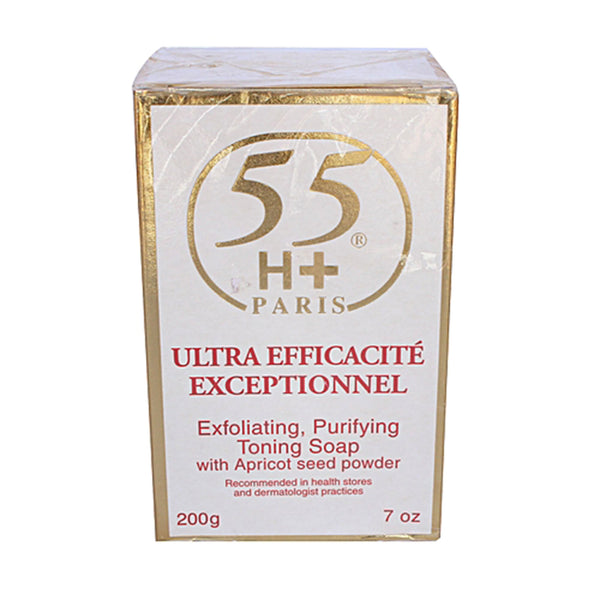 55H+ Paris Ultra Efficacite Exceptinnel Lightening Exfoliating Soap 7oz / 200g