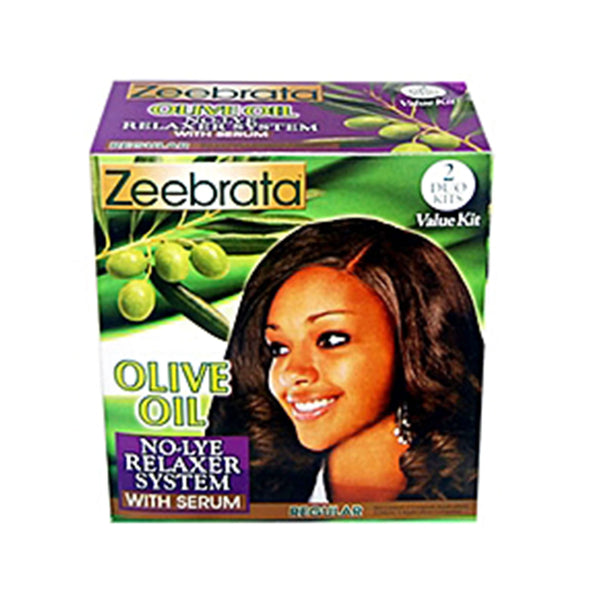 Zeebrata Olive Oil No Lye Relaxer With Serum -Regular