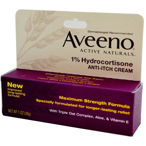 Buy Aveeno Hydrocortisone Anti-itch Cream – 28g Online | Cocci Beauty