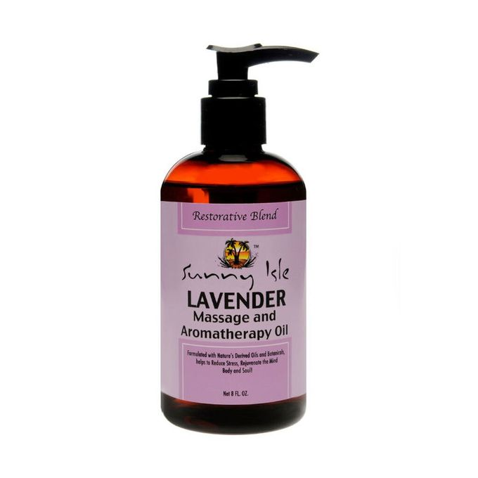 Sunny Isle Lavender Massage And Aromatherapy Oil 80z