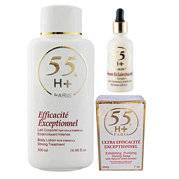 55H+ Efficacite Exceptionnel 3-pc Set