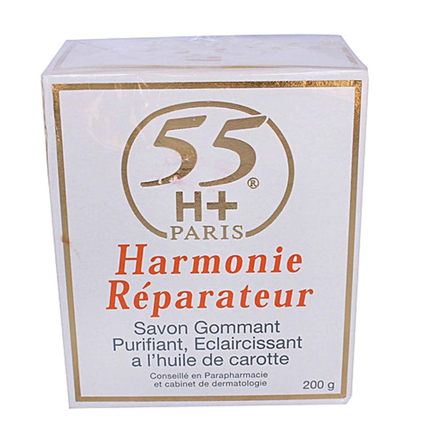55h+ Harmonie Reparateur Exfolliating Purifying Lightening Soap with Carrot Oil