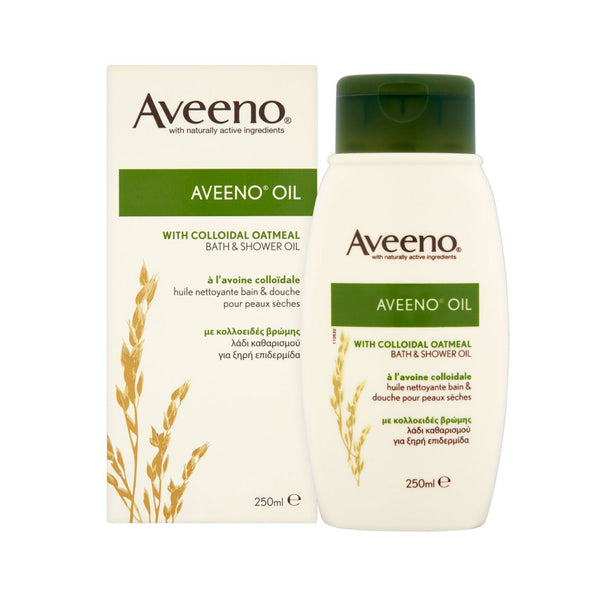 Aveeno Oil Bath & Shower Oil with Colloidal Oatmeal, 250ml