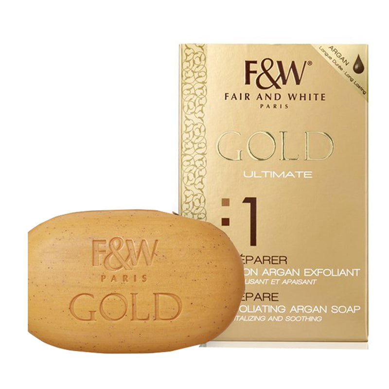 Fair and White Gold Ultimate 1 Prepare Satin Exfoliating Soap  7 oz / 200 gr