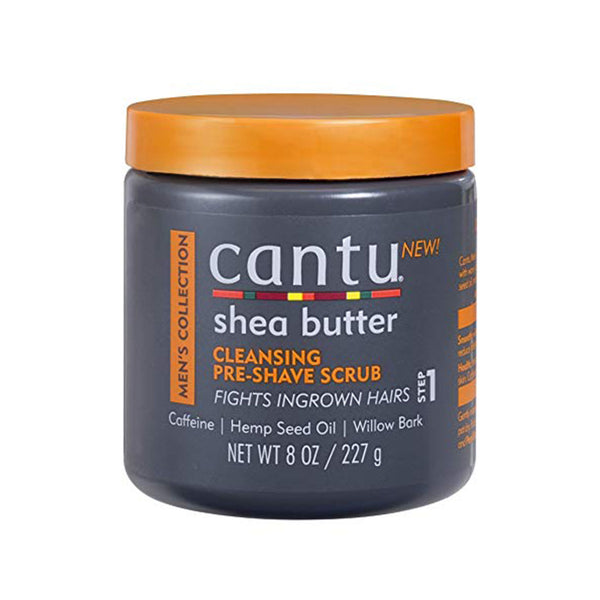 Cantu Mens Cleansing Pre-Shave Scrub 8 Ounce Jar (236ml)