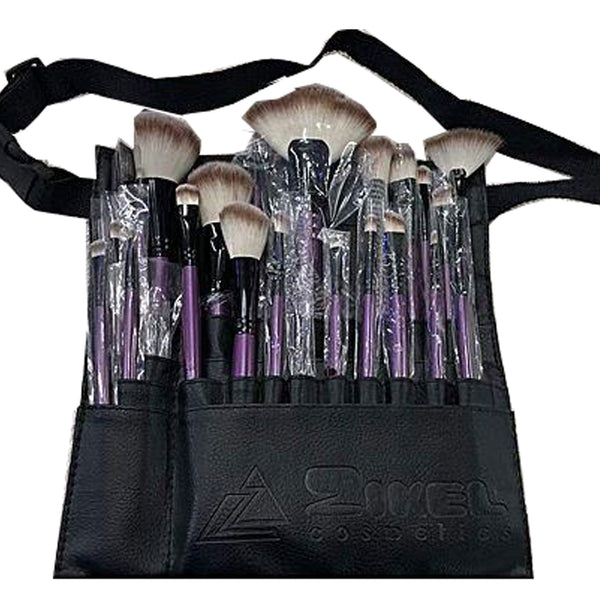 Zikel Kuddy 24 Piece Pro Brush Set with Waist Pouch