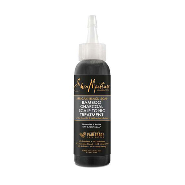 Shea Moisture African Black Soap Bamboo Charcoal Scalp Tonic Treatment