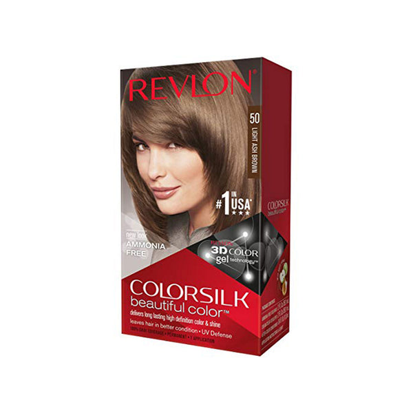 Revlon ColorSilk Haircolor, Light Ash Brown (50)