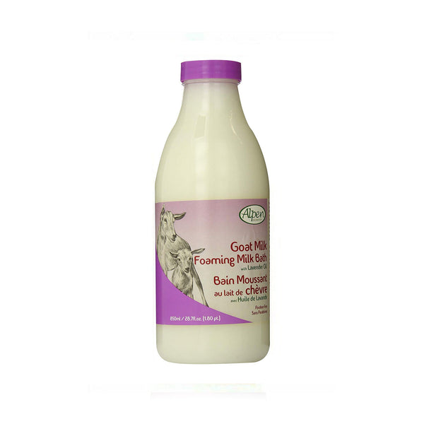 Alpen Secrets Goat Milk Foaming Milk Bath with Lavender Oil 28.7 oz