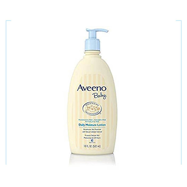 Aveeno Baby Daily Moisture Lotion For Delicate Skin, 18 Oz.