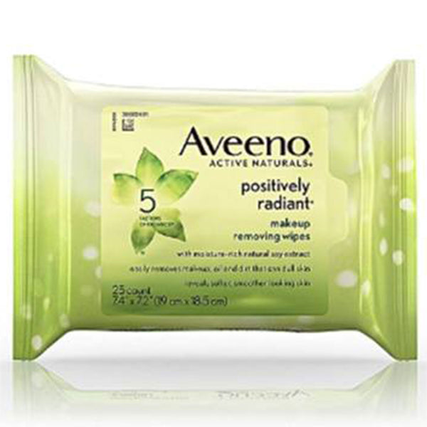 Aveeno Positively Radiant Make-Up Removing Wipes 25