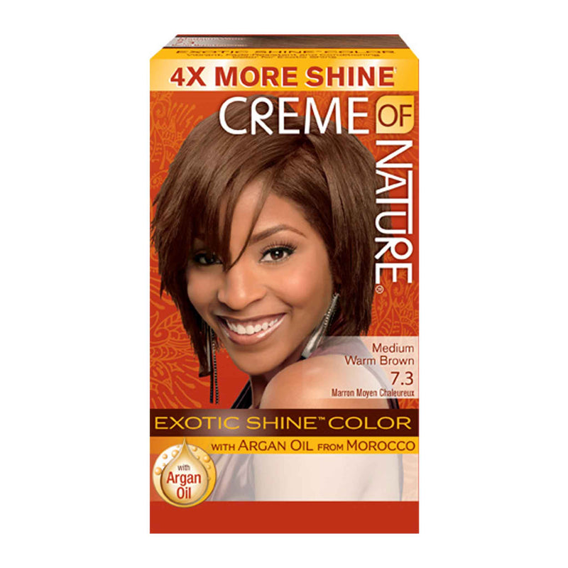 Crème Of Nature Exotic Exotic Shine Color Medium Warm Brown 7.3