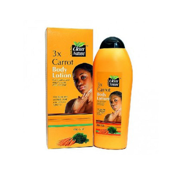 Clear Nature 3X Carrot Body Lotion with Sunscreen and Kojic Acid - 500ml