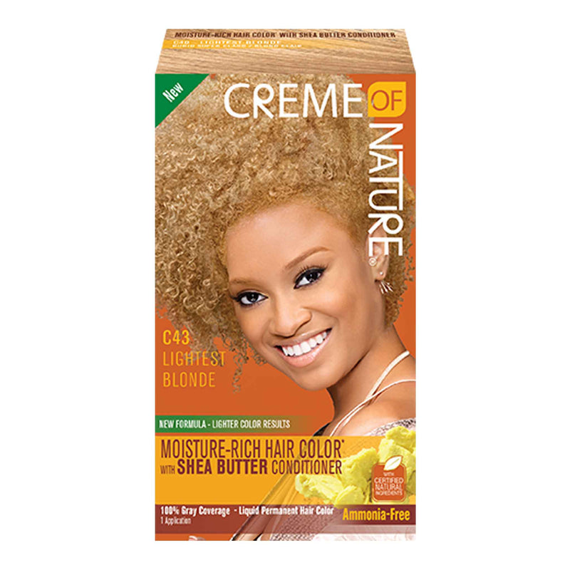 Crème Of Nature Exotic Rich Liquid Permanent Hair Color With Shea Butter Conditioner - Lightest Blonde C43
