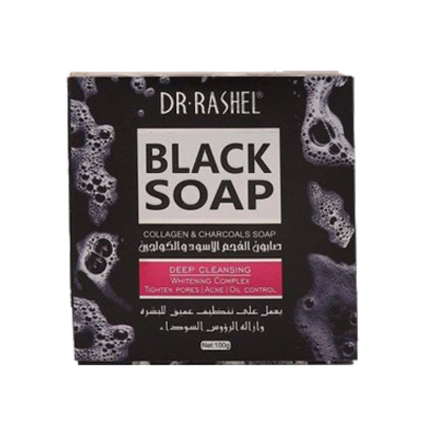 Dr Rashel Deep Cleansing Charcoal Face Black Soap - 100g