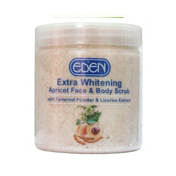 Eden Extra Whitening Apricot Face And Body Scrub  500g