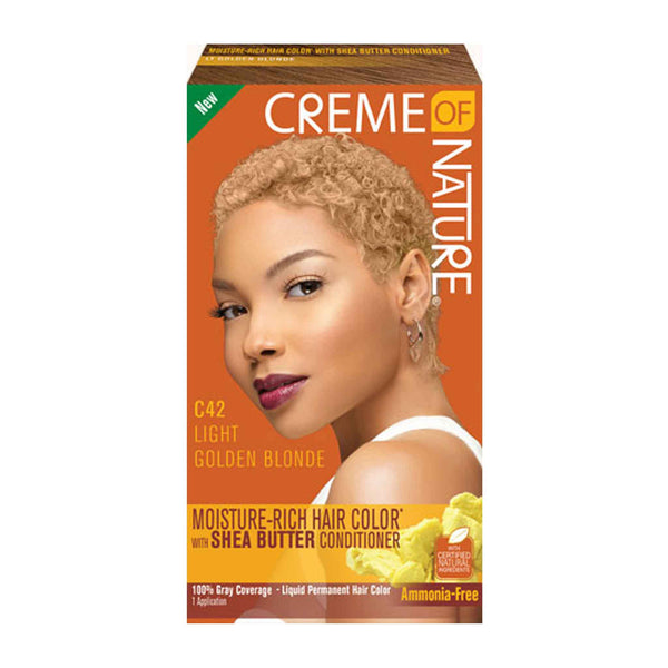 Crème Of Nature Exotic Moisture-Rich Hair Color with Shea Butter Conditionaer - Light Golden