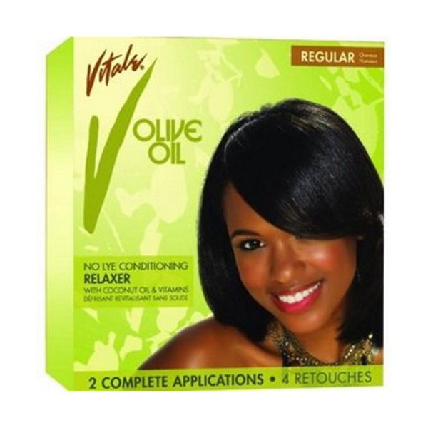 Vitale Olive Oil Anti-Breakage No-Lye Conditioning Relaxer Kit Regular (Complete Kit)