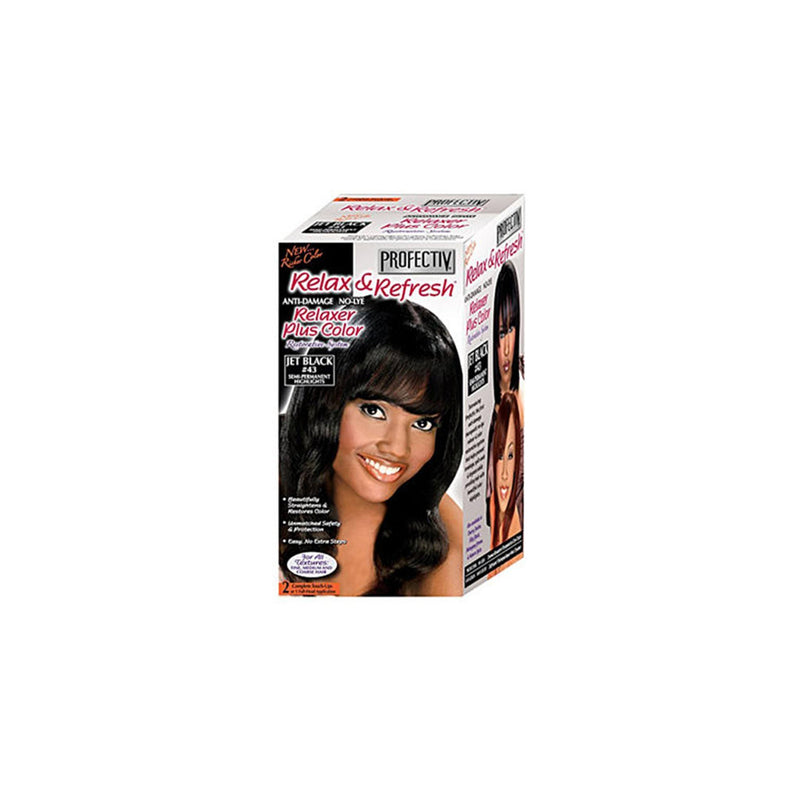 Relax & Refresh JET BLACK #43 Relaxer Plus Color