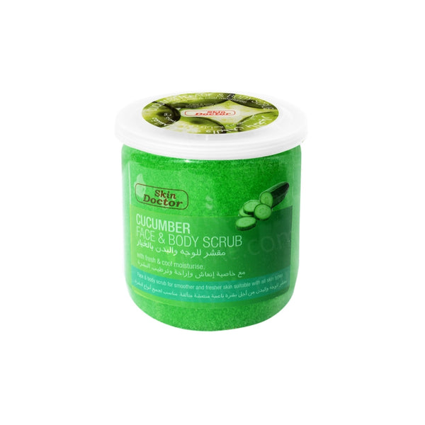 Skin Doctor Face Body Scrub Cucumber, 500 ml