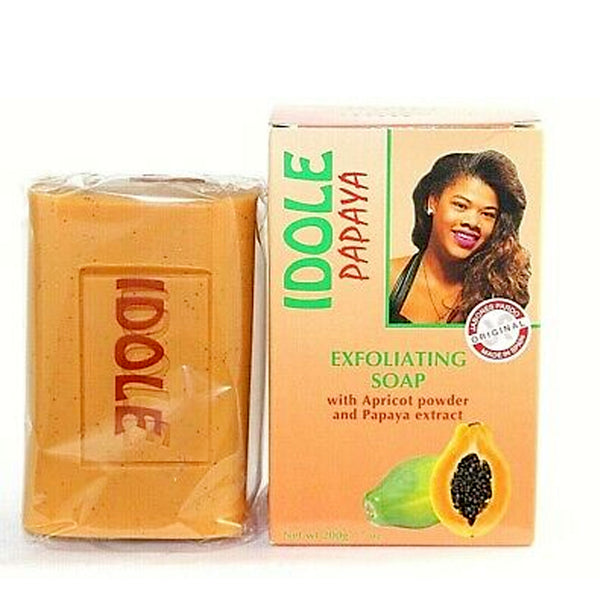 Idole Papaya Exfoliating Lightening Whitening Soap 7 oz / 200g