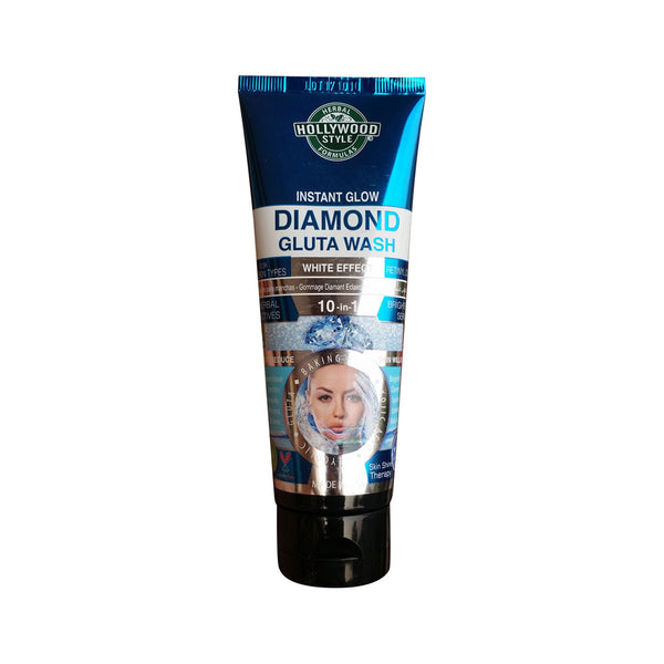 HOLLYWOOD STYLE INSTANT GLOW DIAMOND GLUTA WASH WITH WHITE EFFECT 100ML