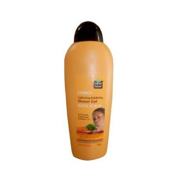 Clear Nature Carrot Lightening Exfoliating Shower Gel With Scrub 750ml