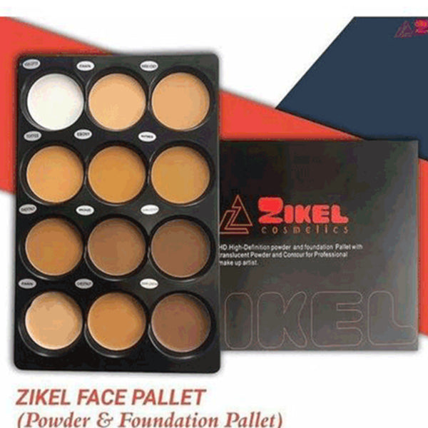 Zikel Face Powder and Foundation Palette