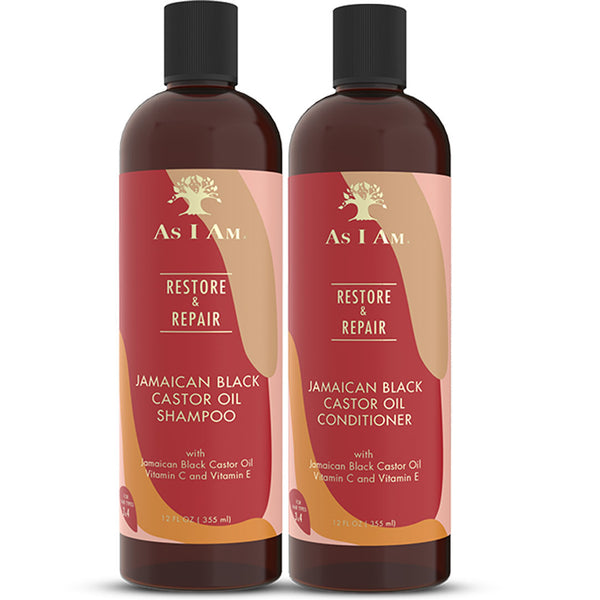 As I Am Jamaican Black Castor Oil  2-pc Sets