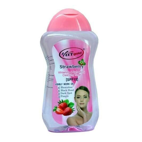 Veet Gold Strawberry Whitening & Refreshing Cleansing Toner, SPF15
